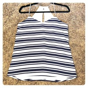 Express Navy and off white dressy tank!